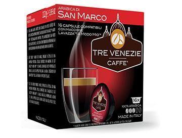Caffè Tre Venezie 16 capsule Arabica Di San Marco per Lavazza a Modo Mio