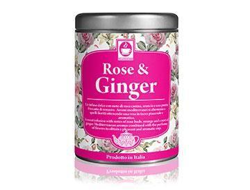 caffè bonini 1 confezione rose & ginger per the e tisane