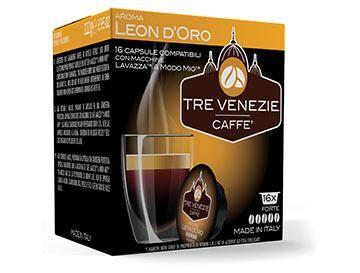 Caffè Tre Venezie 16 capsule Leon D'oro per Lavazza a Modo Mio