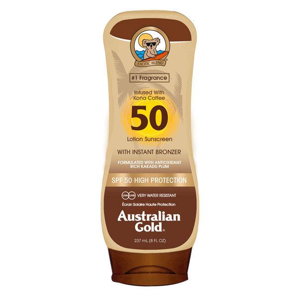 australian gold lotion kona coffe spf 50 high