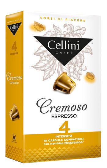 EKAF SpA Cellini Farma Cremoso Intensita' 4 10 Capsule Di Caffe' 50 G