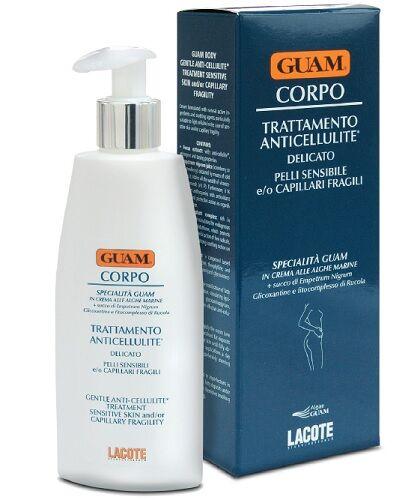 lacote srl guam crema corpo trattamento anticellulite delicato per pelli sensibili e o capillari fragili 200 ml