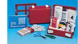 farmacare srl cassetta pronto soccorso minikit per casa, ufficio e tempo libero. contenitore in abs antiurto e con supporto per il fissaggio alla parete