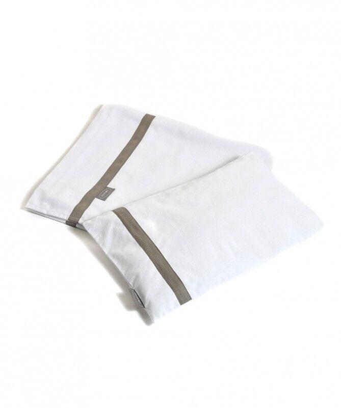 Momon Lenzuolino Basic Bianco/Tortora