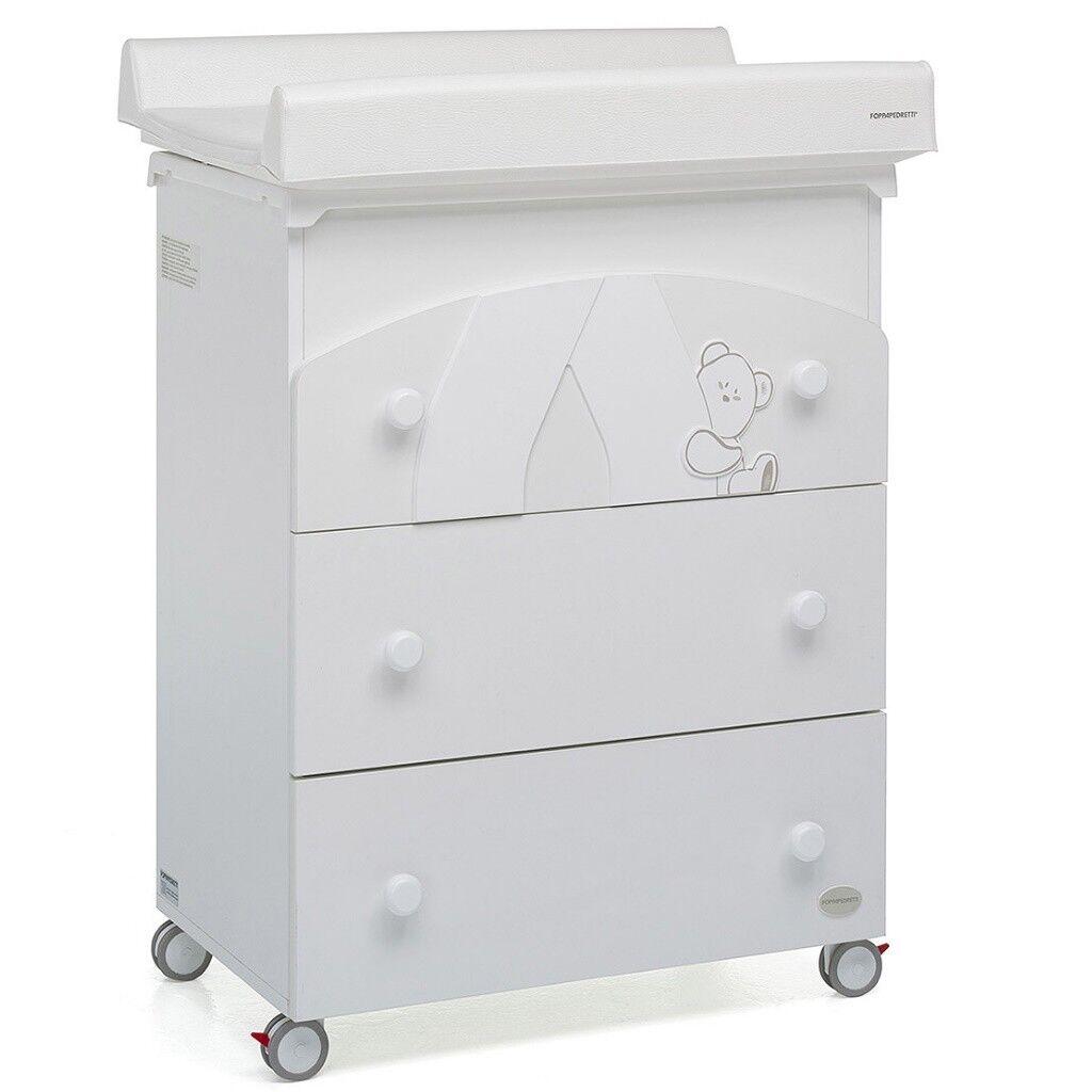 foppapedretti cassettiera bagnetto giocoso bianco