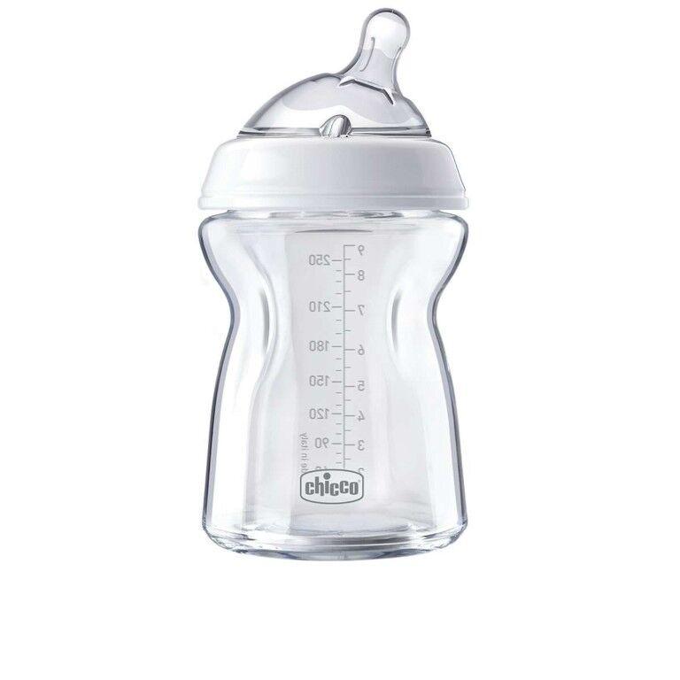 chicco biberon natural feeling 0m+ pure glass 250ml