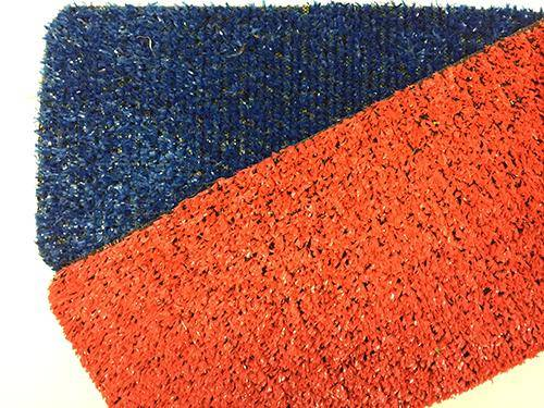 Eternal Parquet Prato In Erba Sintetica Rotolo Da 25mq Tufting 100% Polypropylene Da 8mm (1mtx25) Colori Blu E Rosso - Rosso