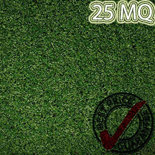 Eternal Parquet Prato In Erba Sintetica Rotolo Da 25mq Tufting 100% Polypropylene Da 8mm (1mtx25) Colore Verde