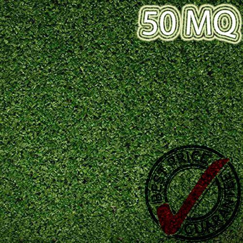 Eternal Parquet Prato In Erba Sintetica Rotolo Da 50mq Tufting 100% Polypropylene Da 8mm (2mtx25) Verde