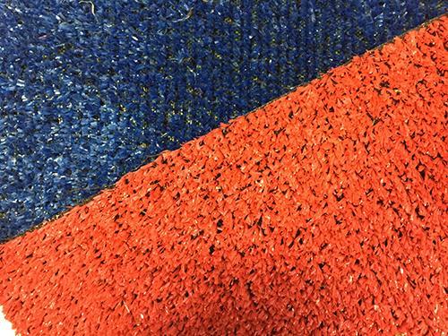 Eternal Parquet Prato In Erba Sintetica Rotolo Da 50mq (2mtx25) Tufting 100% Polypropylene Da 8mm Colori Blu E Rosso - Blu