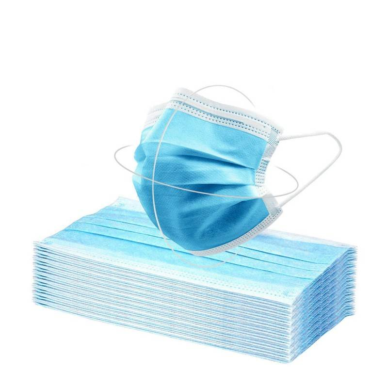 setablu mascherina chirurgica 3 strati monouso con elastici e ponte nasale pz 50