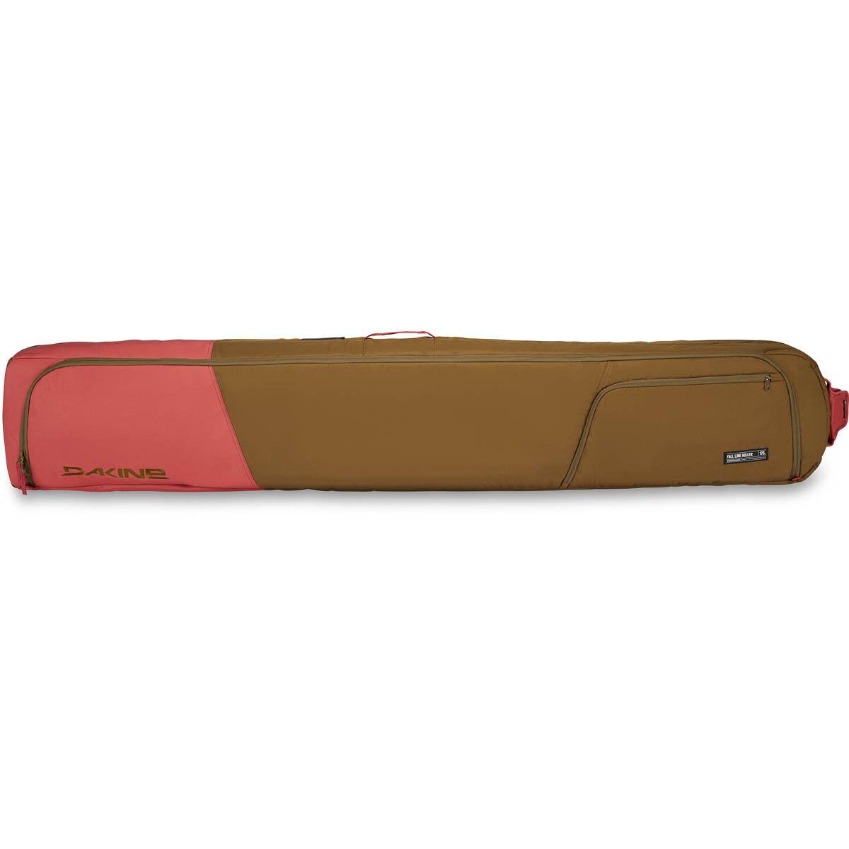 Dakine Fall Line Ski Roller Borsa 175 cm Ski Borsa Dark Olive / Dark Rose