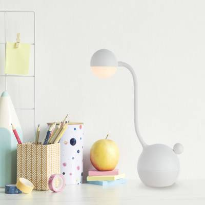 Brilliant Lampada da tavolo Pop Bowling bianco ,