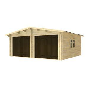 Garage in legno doppio con Basculante 28.25 m², Sp 45 mm