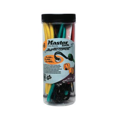 Master Lock Set di cavi elastici BungiCords L 10000 mm, 6 pezzi