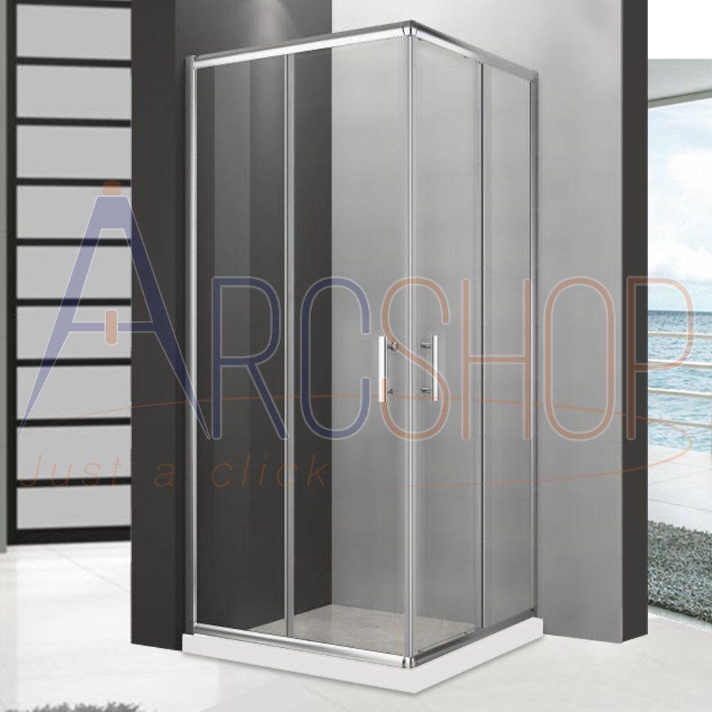 arcdesign selection box doccia 70x90 h195 da 6mm profilo in alluminio cromo e cristallo trasparente