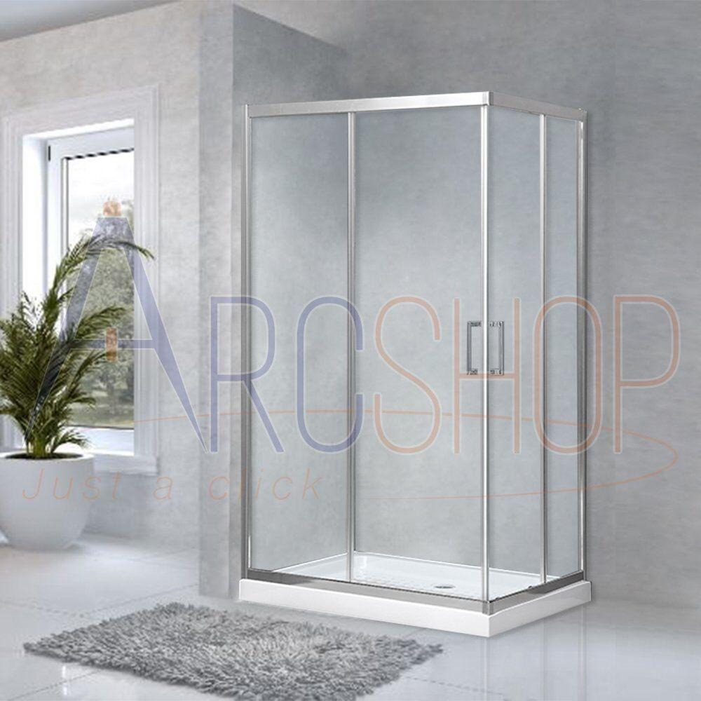 arcdesign selection box doccia 70x120 regolabile con profilo flat alluminio cromato cristallo trasparente 6 mm due ante scorrevoli h 195 cm