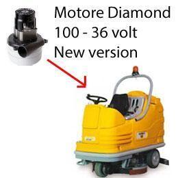 adiatek diamond 100 36 volt motore aspirazione ametek lavapavimenti new version