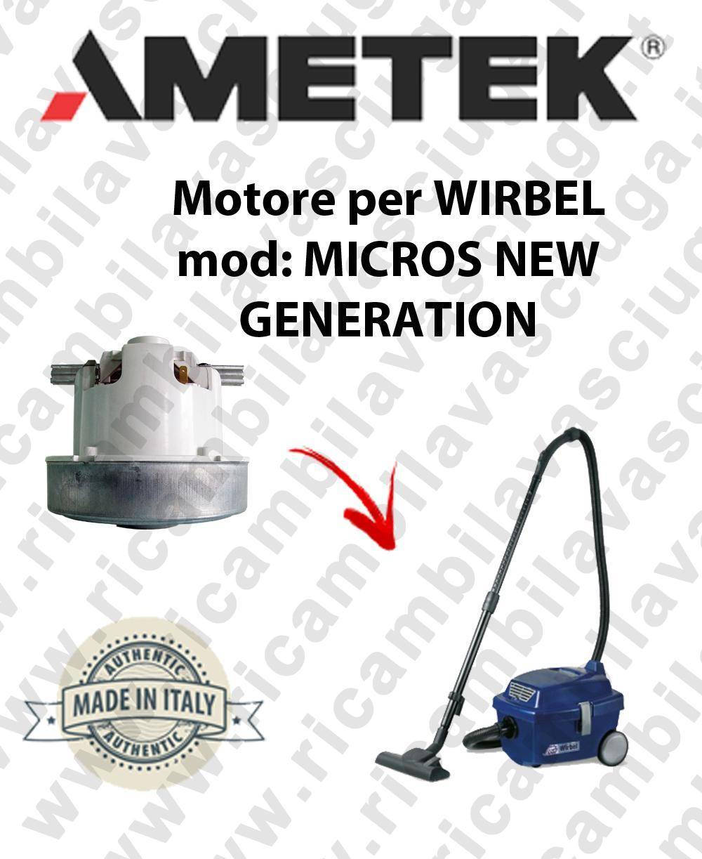 wirbel motore aspirazione ametek per aspirapolvere mikros new generation
