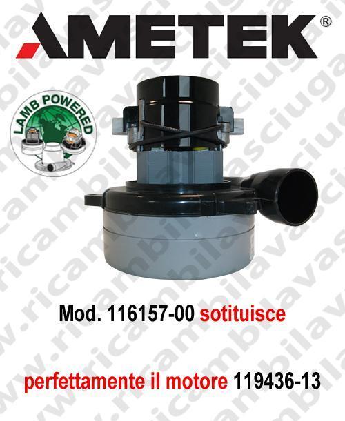 Ametek Motore aspirazione 116157-00 LAMB per lavapavimenti (sostituisce 119436-13)