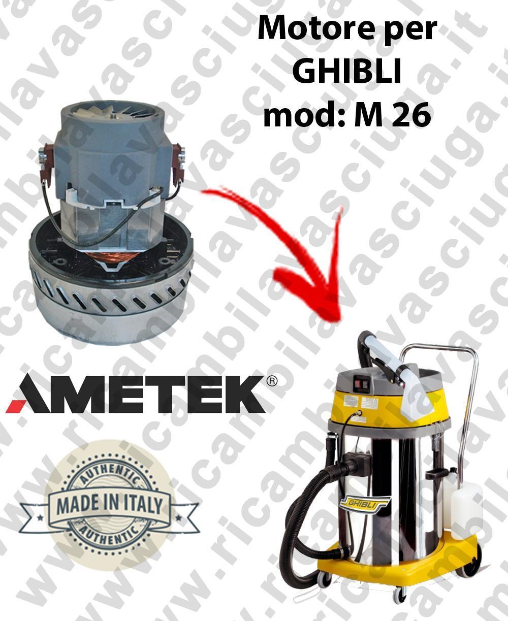 Ghibli & Wirbel M 26 motore aspirazione per macchina estrattrice moquette GHIBLI