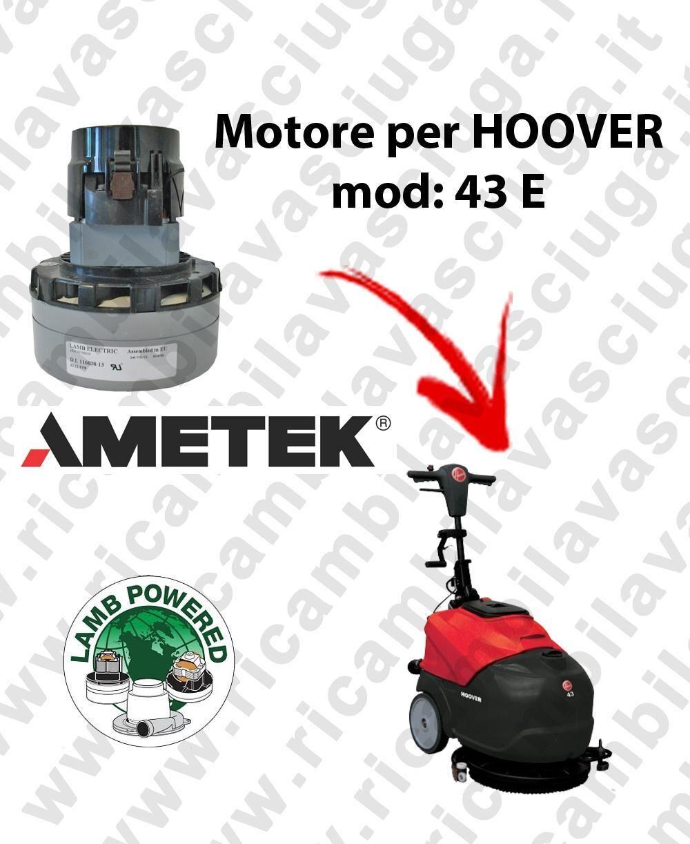 Hoover Motore Lamb Ametek di aspirazione per lavapavimenti 43 E