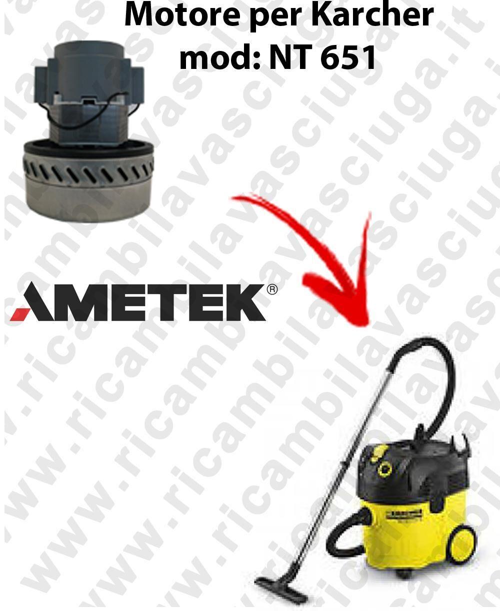 Karcher NT 651 Motore aspirazione AMETEK per aspirapolvere