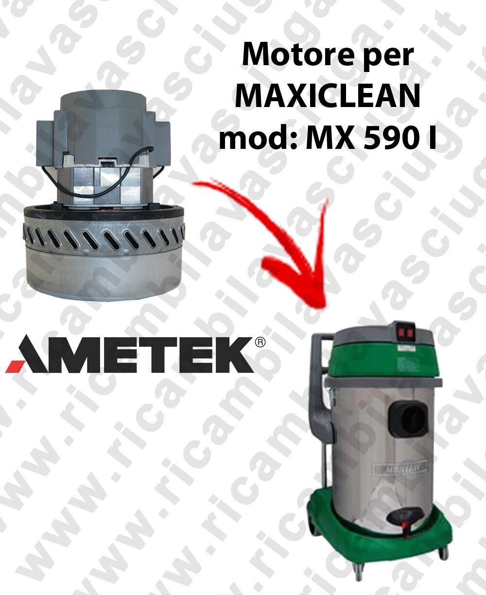 MAXICLEAN MX 590 I MOTORE AMETEK di aspirazione per aspirapolvere e aspiraliquidi