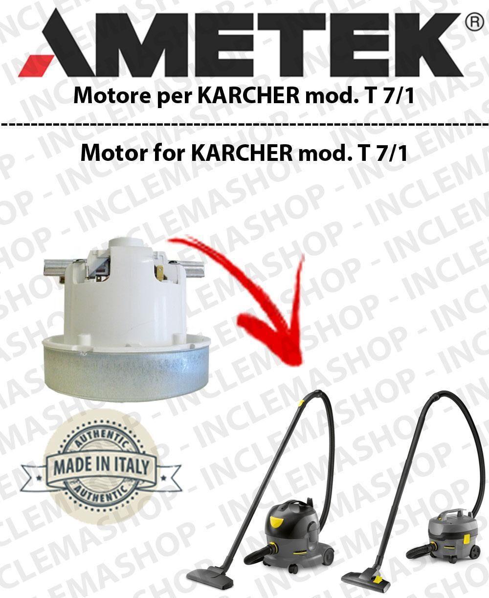 Karcher T 7/1 MOTORE AMETEK di aspirazione per aspirapolvere