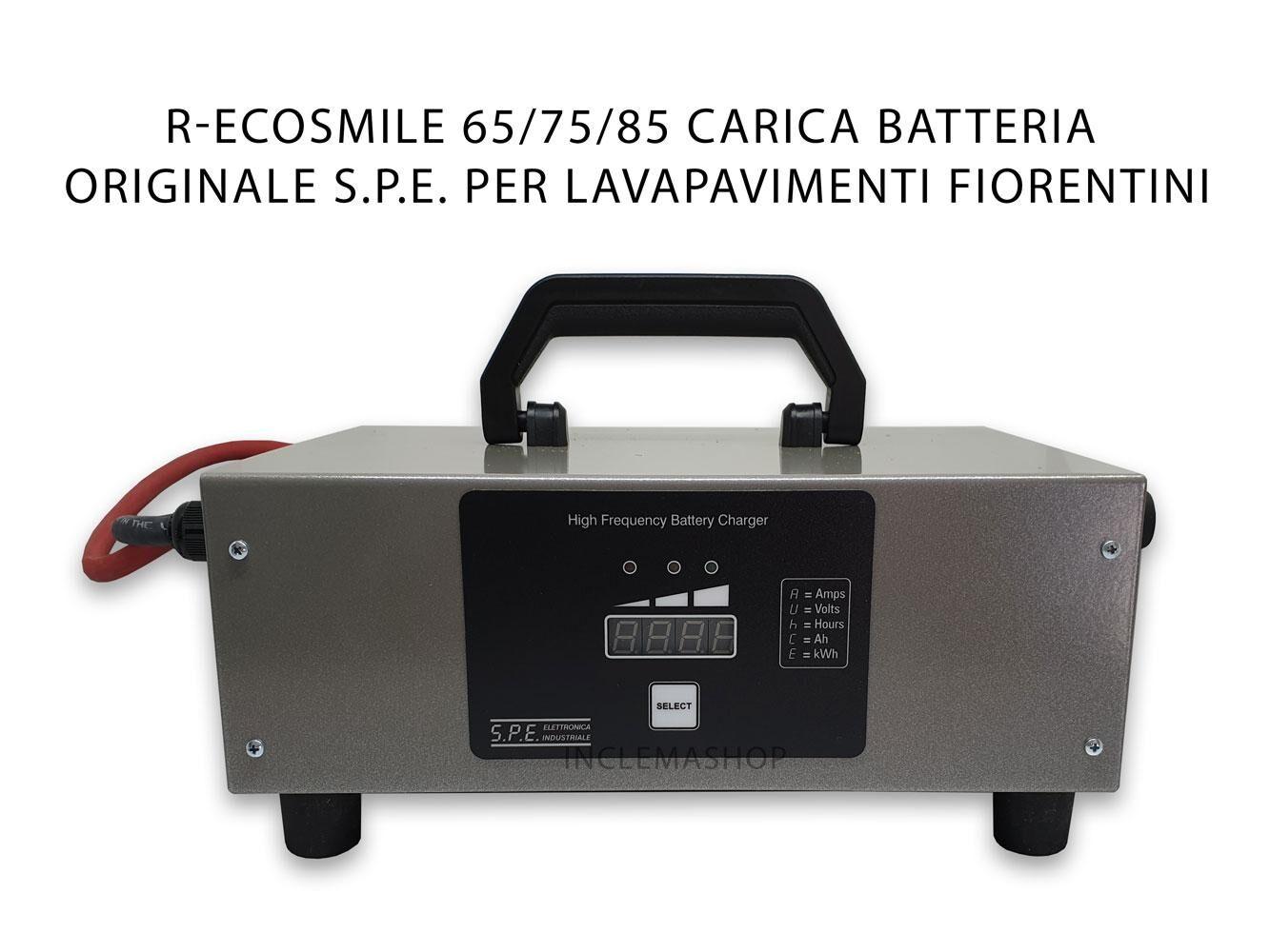 S.P.E. Eletronica Industriale R-ECOSMILE 65/75/85 CARICA BATTERIA S.P.E. ORIGINALE per lavapavimenti FIORENTINI