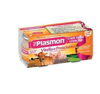 plasmon omogenizzato vitello e prosciutto 4 vasetti da 80 g