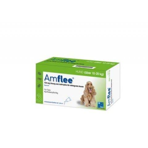 amflee spot-on antiparassitario cani taglia media 3 pipette