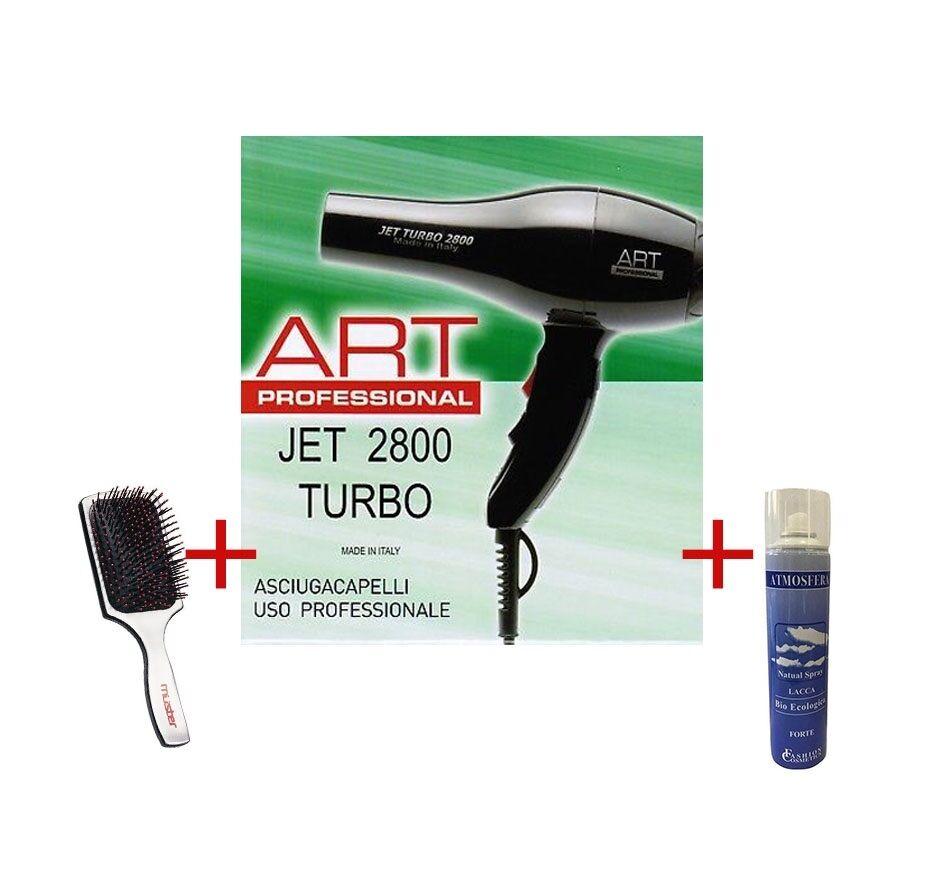 ART PROMOZIONE Phon Jet 2800 Turbo + Lacca 400 Ml + Muster Spazzola