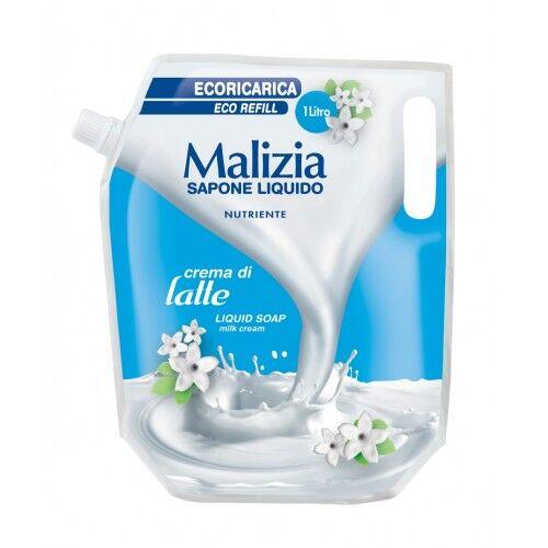 MALIZIA Sapone Liquido Latte Ecorica Nutriente -1Lt Cream di Latte