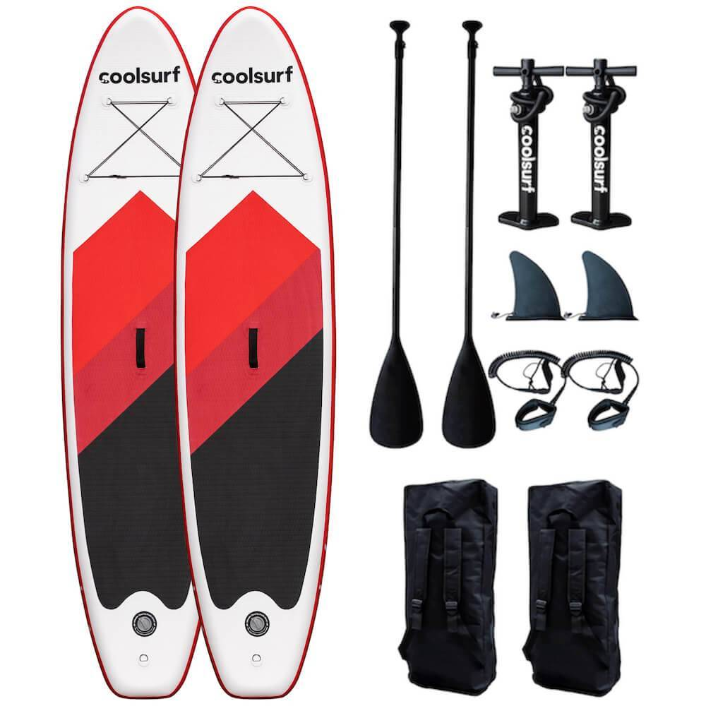 CoolSurf 2 x Paddleboard Surfy Kite Red Edition - SUP gonfiabile 3,2M