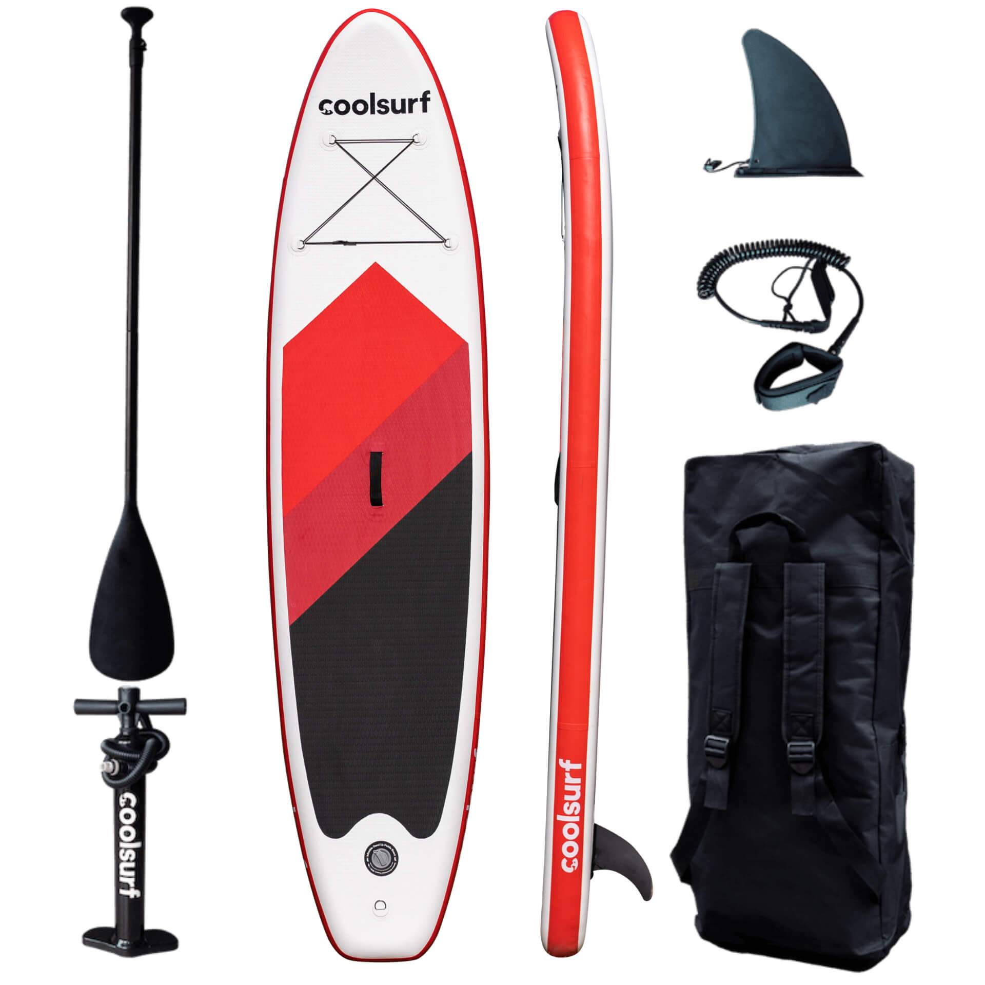 CoolSurf Paddleboard Surfy Kite Red Edition - SUP gonfiabile 3,2M