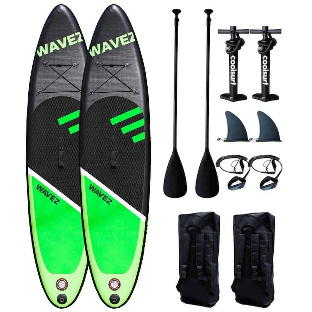 CoolSurf 2 x CoolSurf WAVEZ Kite Paddleboard - SUP Gonfiabile 2,90M