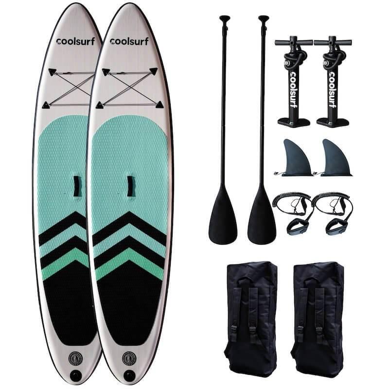 CoolSurf 2 x CoolSurf SAIL Kite Paddleboard - SUP Gonfiabile 10'4