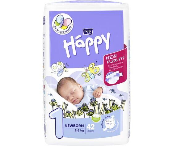 bella happy Pannolini Happy Taglia 1 New Born 2-5 Kg 42pz