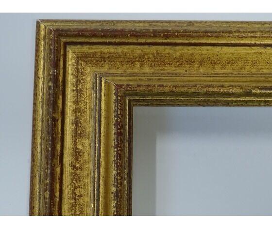 Specchio Con Cornice Dorata Cm 90 X 70