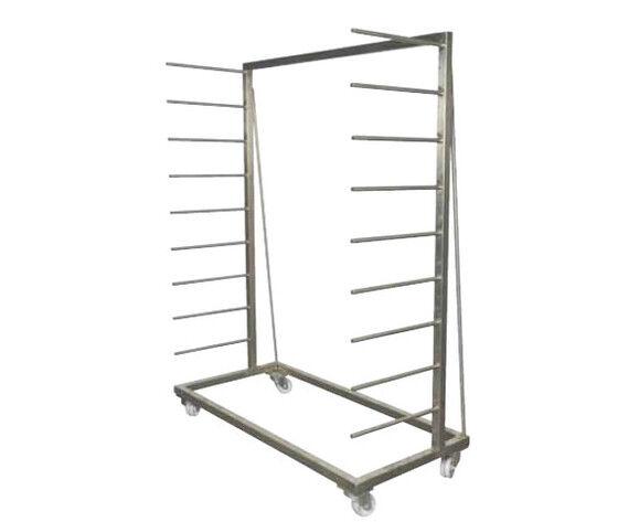 Carrello Porta Tavole A Pioli Singolo – Zincato – 6 Posti