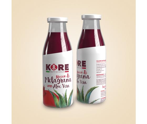 Succo Di Melagrana Wonderful E Aloe Vera - Confezione Da 12 Bottiglie