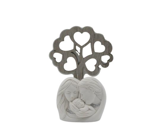 moda argenti sacra famiglia con albero della via in polvere di marmo complemento d'arredo