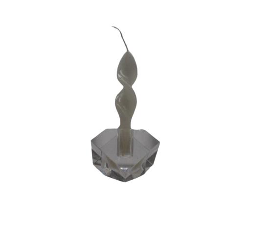 TUFANO CRISTAL Candeliere Un Cubo Cristallo Complemento D'Arredo 7x8cm