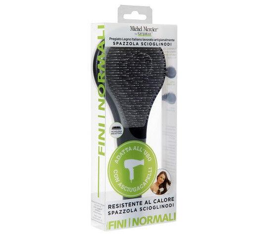 michel mercier professional spazzola scioglinodi adatta all' uso con asciugacapelli