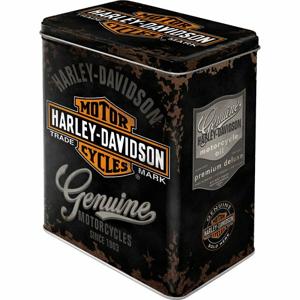 Scatola L Tin Box L Harley-Davidson Genuine Logo, 14x20x10 cm