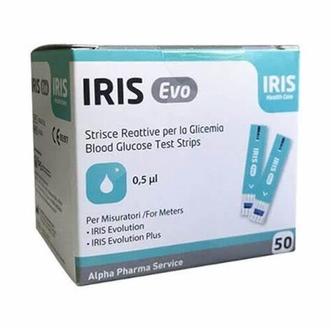 Alpha Iris Evo Strisce Glicemia 50 pezzi Reagenti per misurazione della glicemia