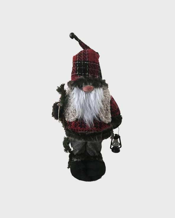 Mobili Rebecca Babbo Natale in plastica rosso decorativo