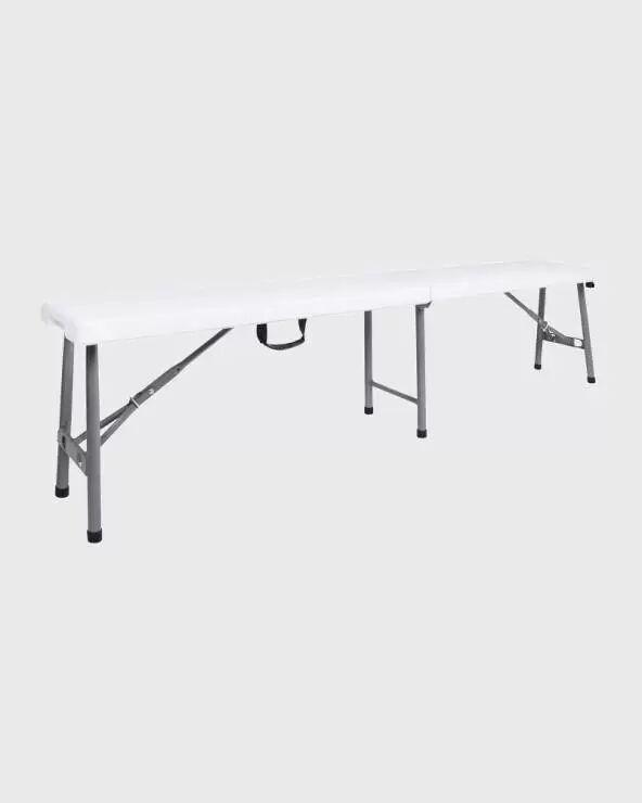 mobili rebecca set di 2 panche da giardino in plastica e richiudibili