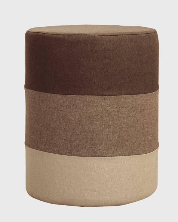mobili rebecca pouf rotondo e imbottito multicolore a righe